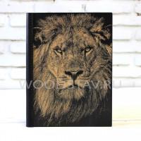 Ежедневник из дерева и кожи Лев (LW-00010)