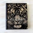 Ежедневник из дерева и кожи Тигр