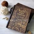 Книга рецептов из дерева и кожи Гамбургер