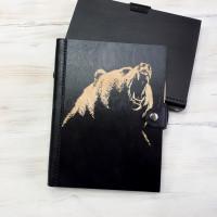 Ежедневник из дерева и кожи Медведь (LW-00039)